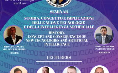 Seminar – History, concept and consequences of new technologies and artificial intelligence